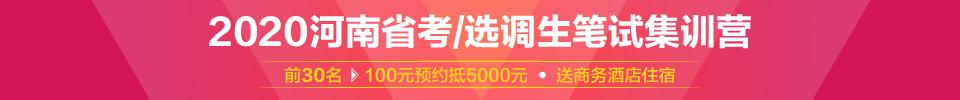2020河南农信社金燕集训营